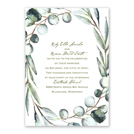 Fresh Cut Invitation with Free Response Postcard