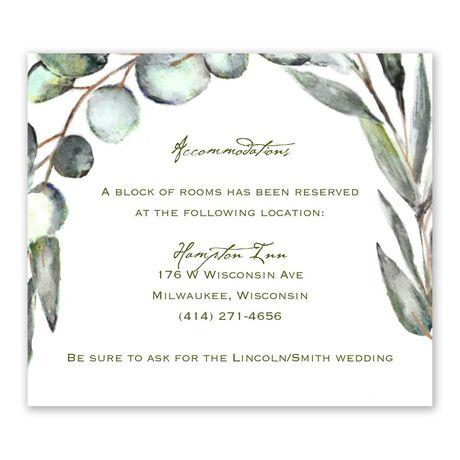 Fresh Cut Information Card