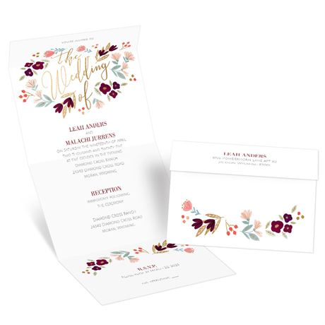 Whimsical Blooms Seal and Send Invitation