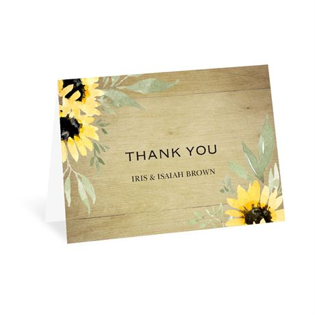 Natural Sunflower - Thank You Card