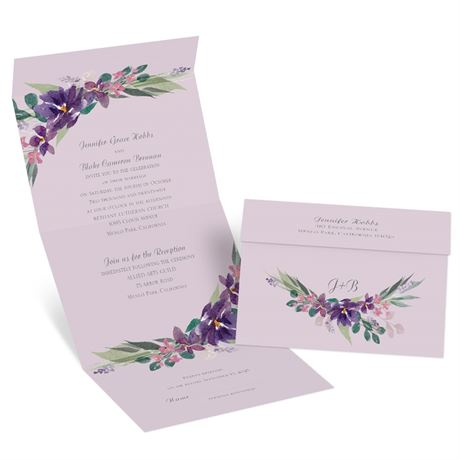 Amethyst Floral - Seal and Send Invitation