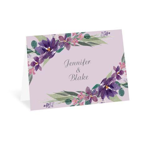 Amethyst Floral - Thank You Card