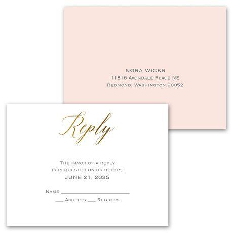 Worth the Wait - Invitation with Free Response Postcard