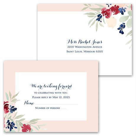 Garden Floral - Invitation with Free Response Postcard