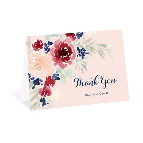 Garden Floral - Thank You Card