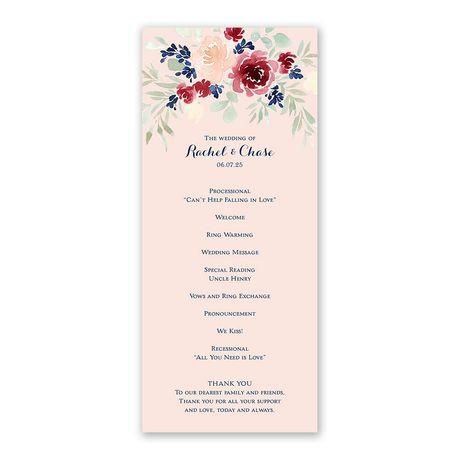 Garden Floral Wedding Program