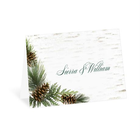 Winter Birch Thank You Card