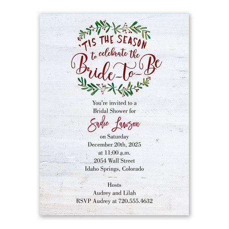 The Season Bridal Shower Invitation