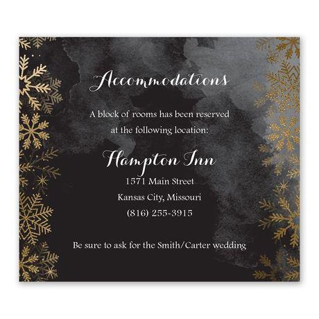 Sparkling Flurry Gold Information Card