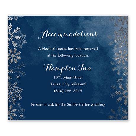 Sparkling Flurry Silver Information Card