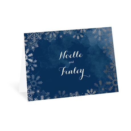 Sparkling Flurry Silver Thank You Card