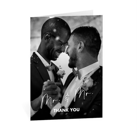 Classic Couple Mr. and Mr. Thank You Card