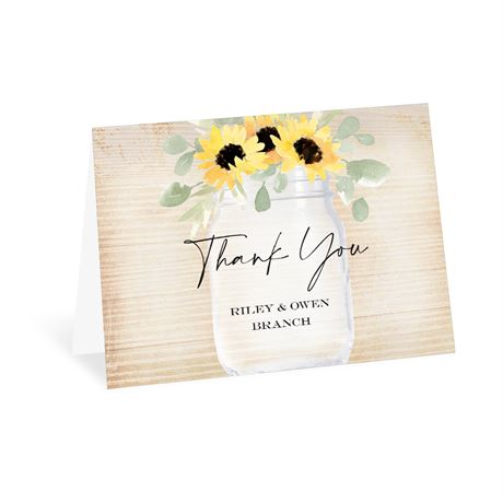 Pretty Sunflower Thank You Card