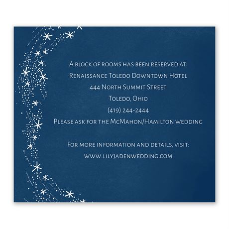Swirling Snowflakes Information Card
