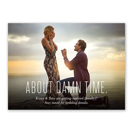 About Time Engagement Announcement