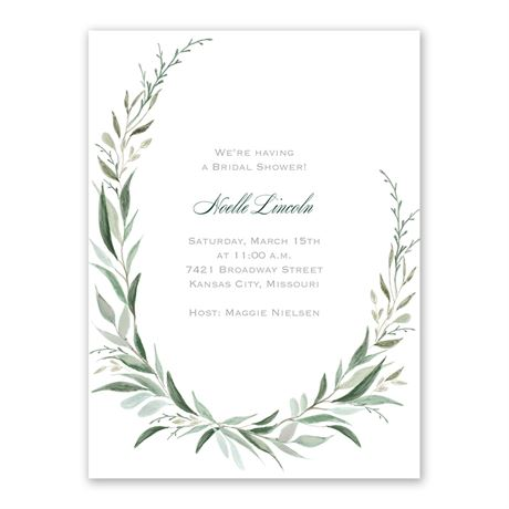 Wrapped in Greenery Bridal Shower Invitation