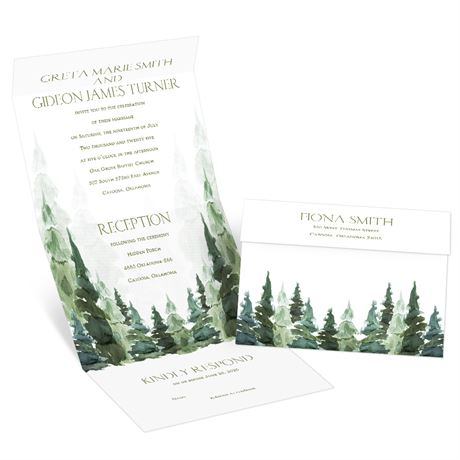 Enchanted Woods Seal and Send Invitation