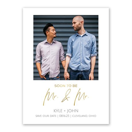 Soon Mr. and Mr. Save the Date