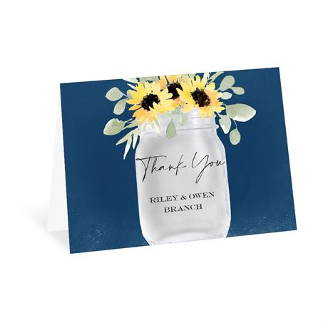 Jar of Flowers Thank You Card