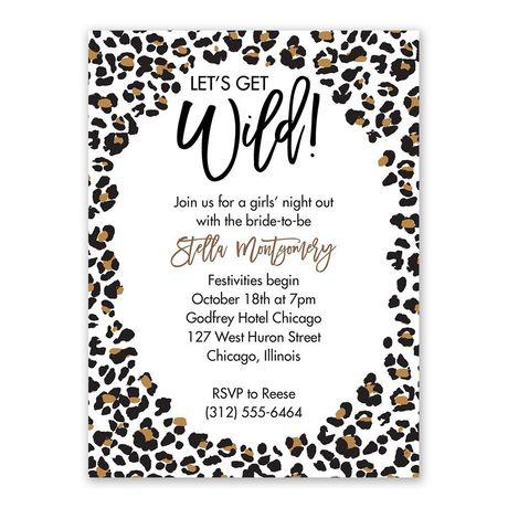 Get Wild Bachelorette Party Invitation
