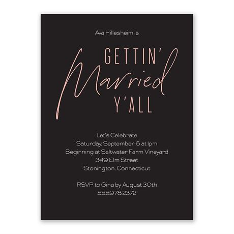 Getting Married Bachelorette Party Invitation