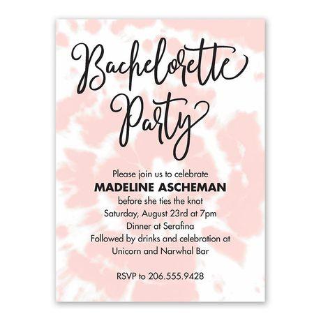 Tie Dye Bachelorette Party Invitation