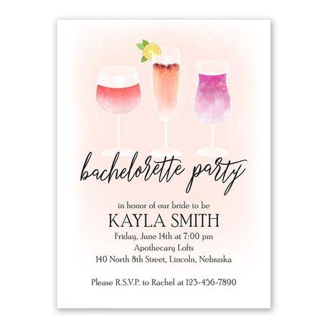 Cocktails Bachelorette Party Invitation