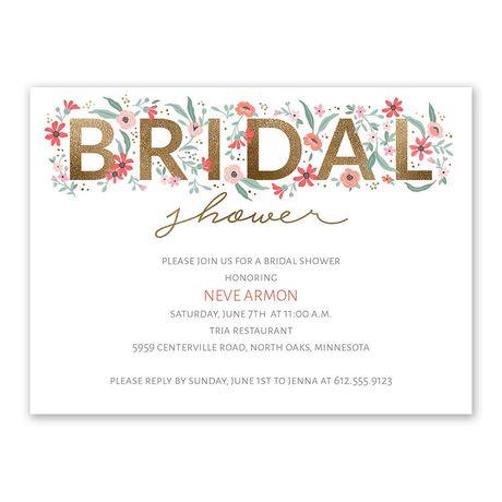 Floral Whimsy Bridal Shower Invitation