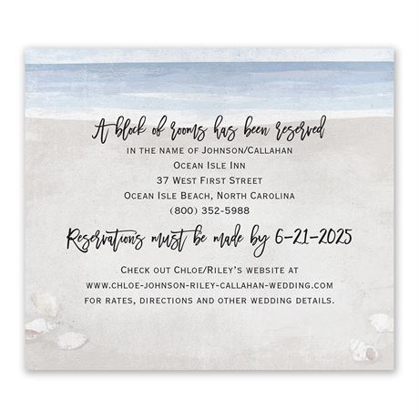By the Seashore Information Card
