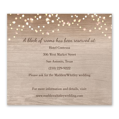 Country Chic Information Card
