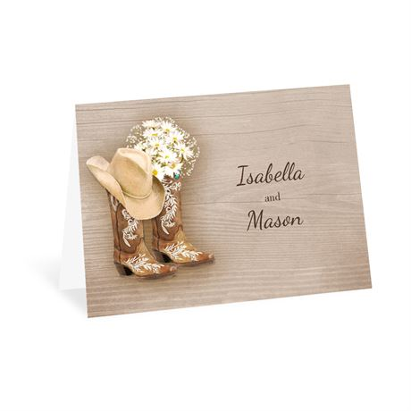 Country Chic Thank You Card