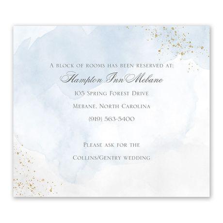 Sweetly Serene Blue Information Card