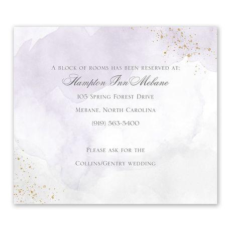 Sweetly Serene Violet Information Card