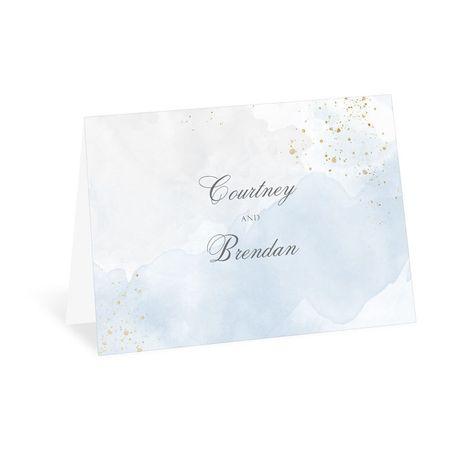 Sweetly Serene Blue Thank You Card