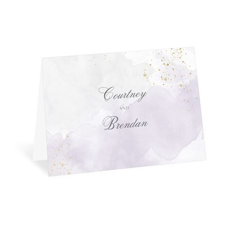 Sweetly Serene Violet Thank You Card