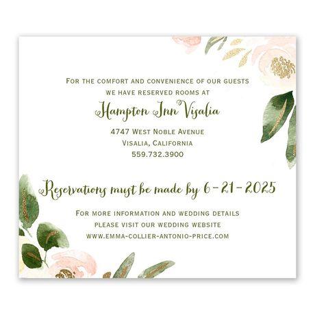 Modern Floral Powder Information Card
