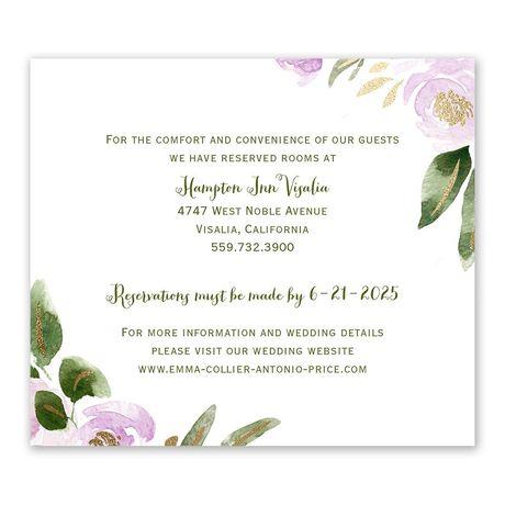 Modern Floral Wisteria Information Card