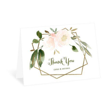 Modern Floral Powder Thank You Card