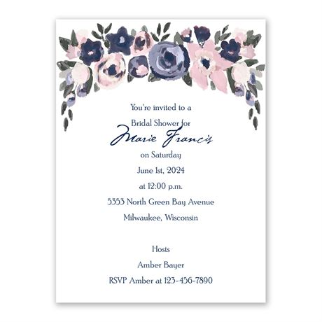 Abstract Bouquet Bridal Shower Invitation