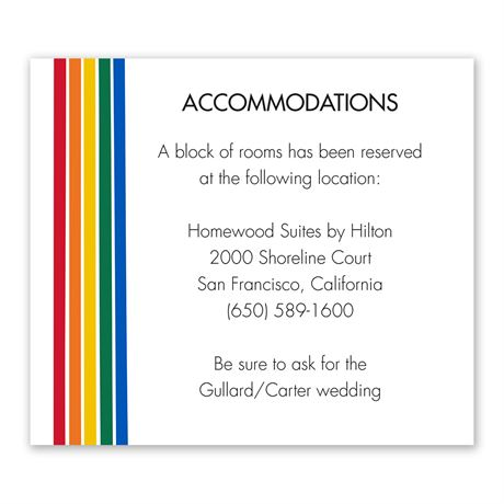 Color of Love Information Card