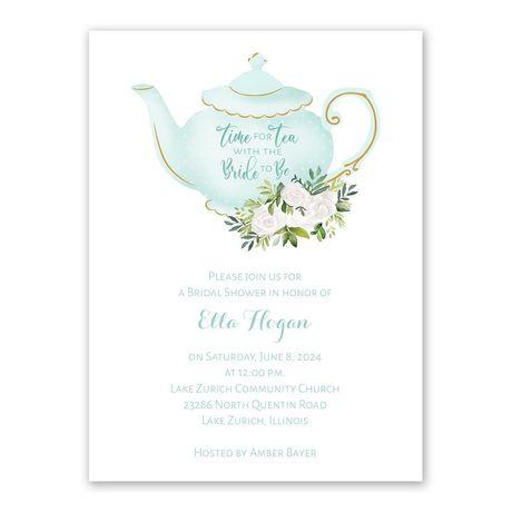 Time for Tea Bridal Shower Invitation