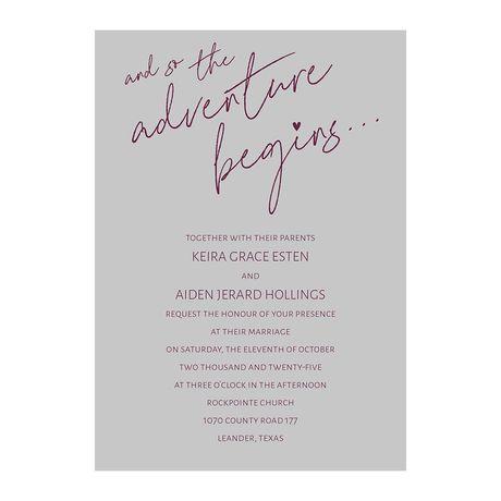 Adventure Begins Invitation with Free Response Postcard