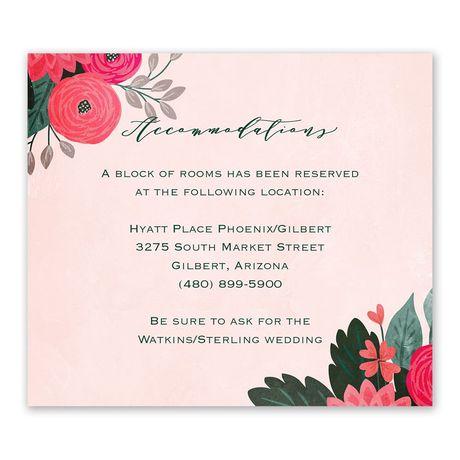 Bright Bouquet Information Card