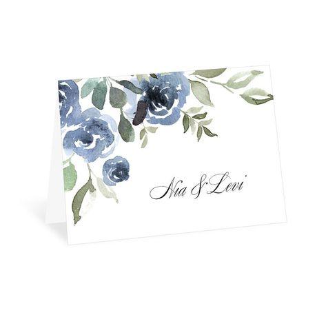 Slate Rose Thank You Card