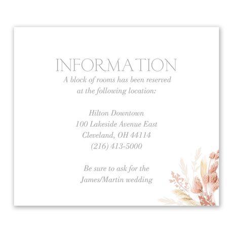 Boho Beauty Information Card