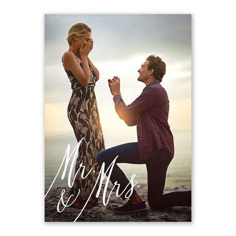 Always Mr and Mrs Invitation with Free Response Postcard