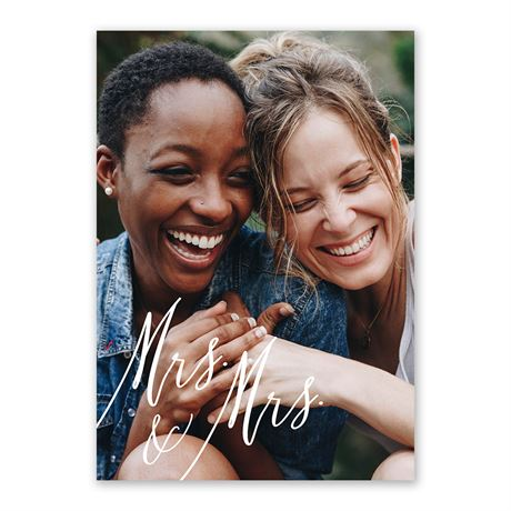 Always Mrs and Mrs Invitation with Free Response Postcard