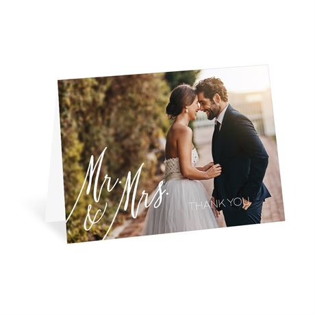 Always Mr and Mrs Thank You Card