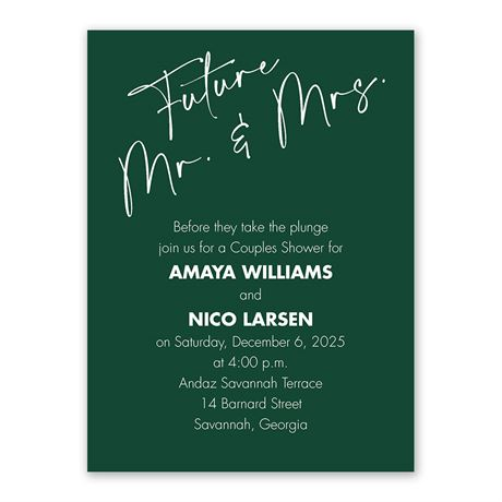 Classic Couple Mr and Mrs Couples Shower Invitation