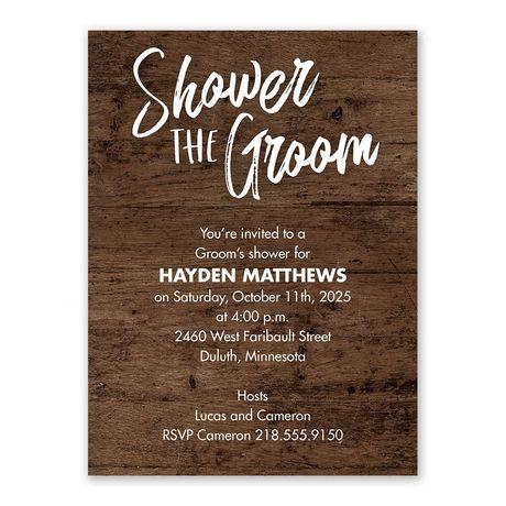 Rustic Groom Groom Shower invitation